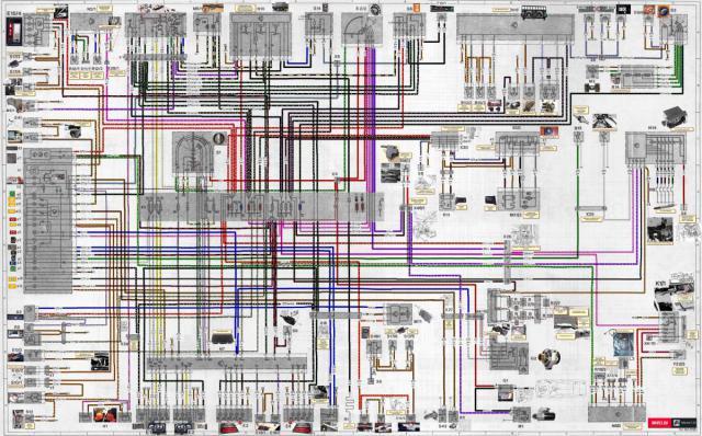 0. Общая электрическая схема W124 250D.jpg