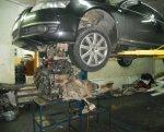 Как снять двигатель Audi с автомобиля