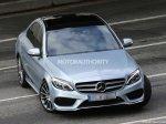 Новое поколение Mercedes-Benz C-class позировало без камуфляжа